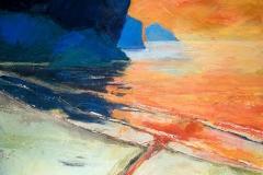 Ocean Thoughts on Orange & Blue